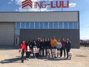 Studentet e Enterierit gjate vizites ne Fabriken PEVALIT